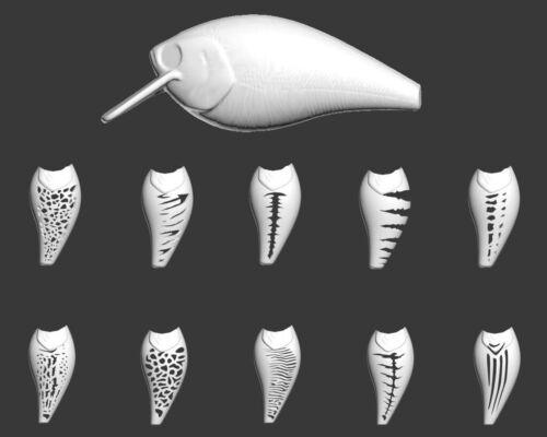 Wlure Hartplastik 3D Schablone UPHC25