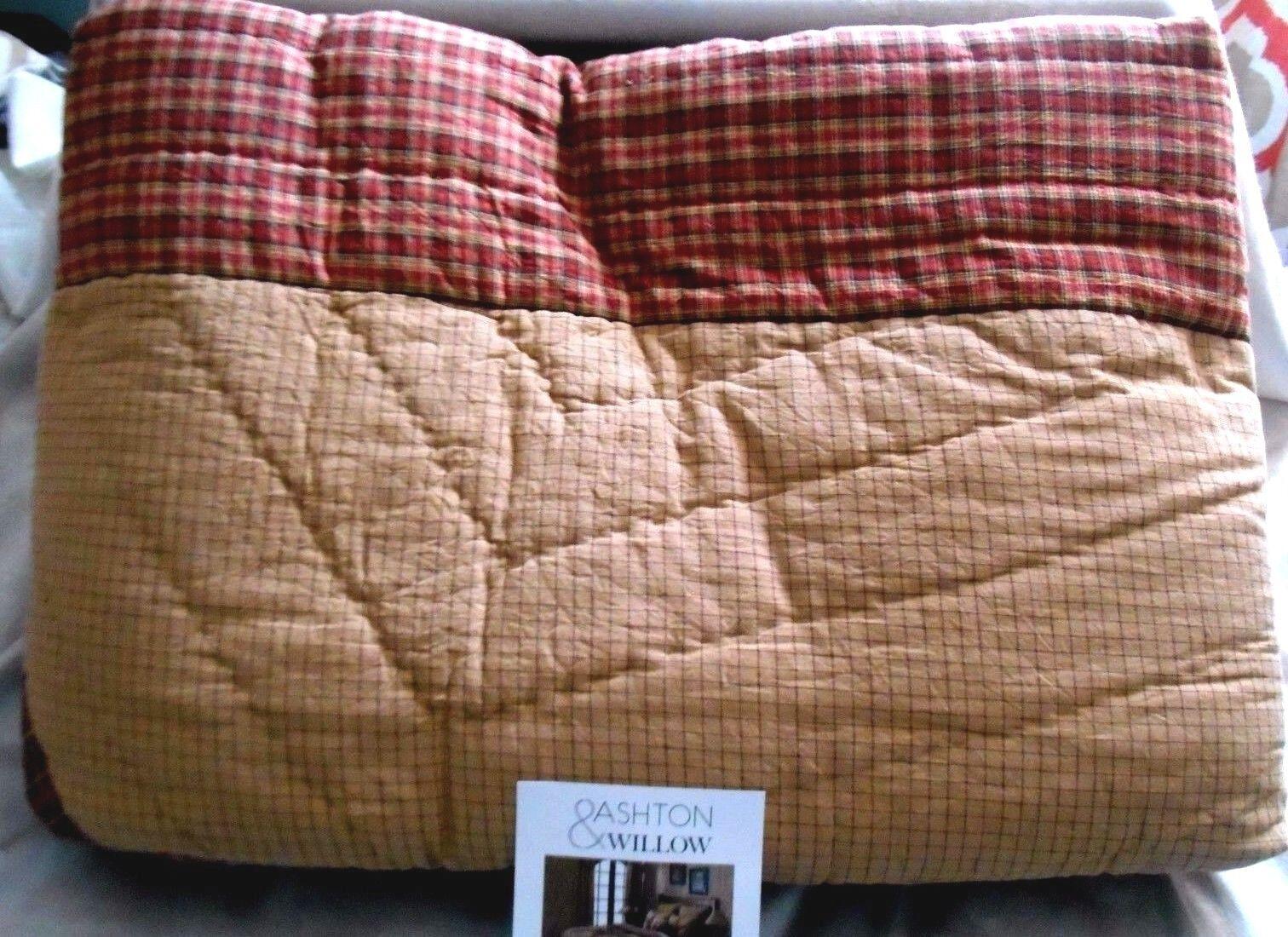 NEW Ashton & Willow Landon Plaid Star Country Design 100% Cotton KING QUILT