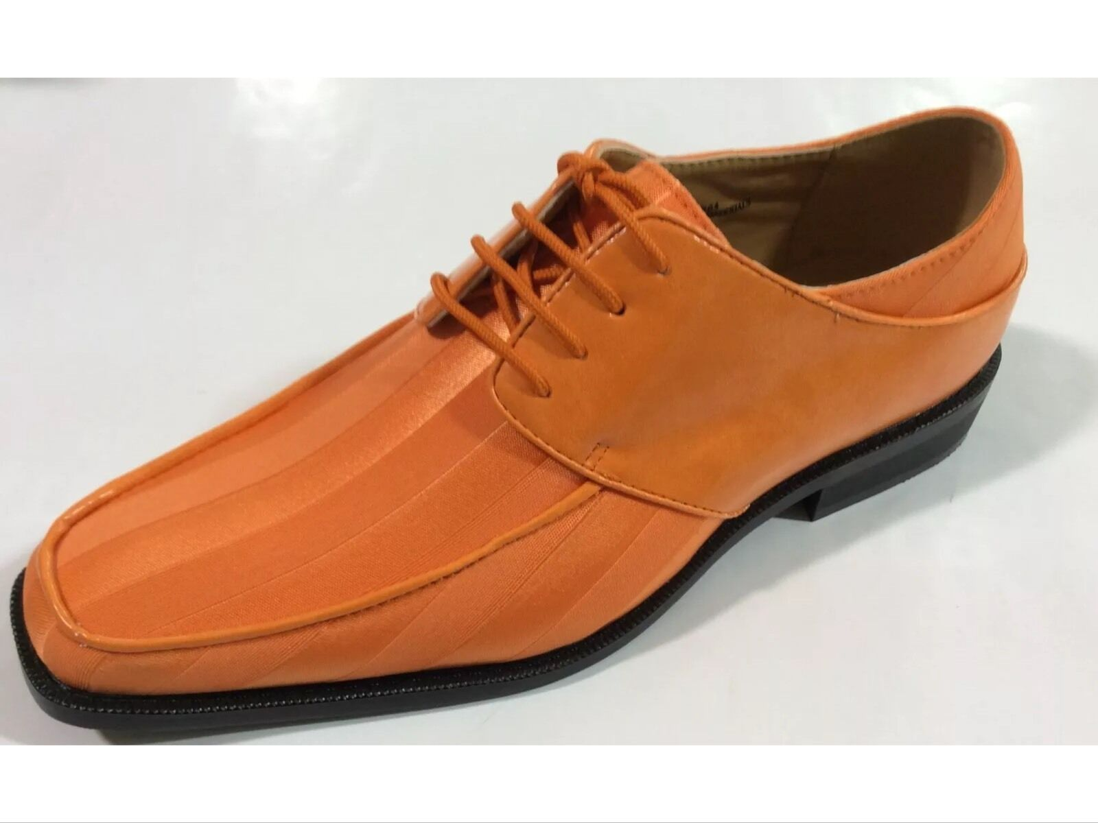 Mens Dress shoes Expressions Satin Shiny Pumpkin Formal Oxford New with Box