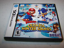 Mario & Sonic at the Olympic Winter Games Nintendo DS Lite DSi w/Case & Manual