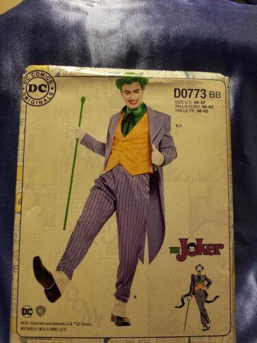 UNCUT Simplicity 8195 DC COMICS MEN/'S BATMAN JOKER  COSTUME Pattern SIZE 46-52