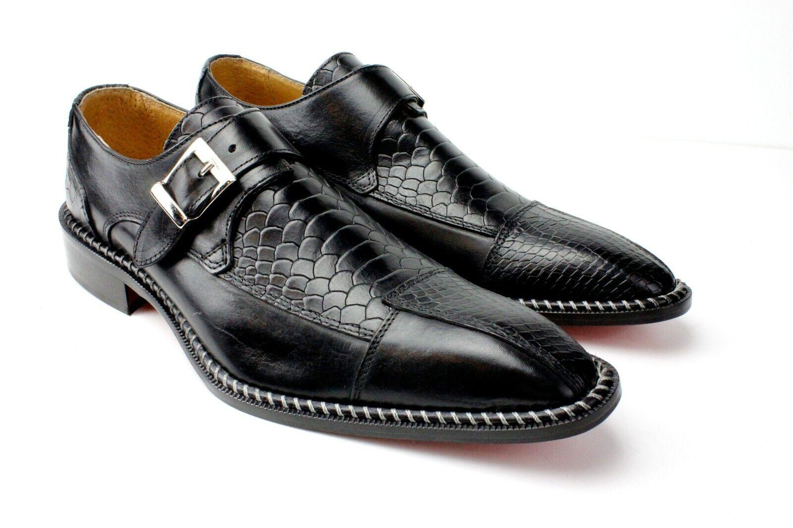 articoli promozionali Ivan Troia Nero Artigianale in pelle Italiana Italiana Italiana Scarpe Eleganti   Monk Cinturino  molto popolare