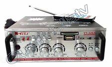AMPLIFICATORE AUDIO CASA AUTO 12V 2 CH RADIO FM MP3 AUX SD USB 220V TELECOMANDO