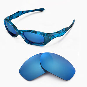 902ee84a47 Image is loading Walleva-Polarized-Ice-Blue-Replacement-Lenses-For-Oakley-