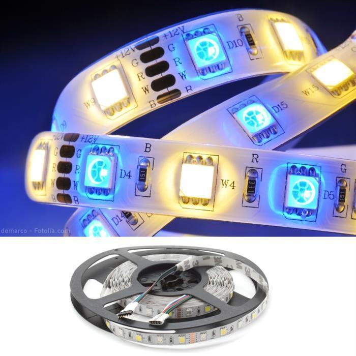 RGBW RGB + W 3000K tira de LED 500 cm 5 M; 24 V IP20 300 Leds 5050