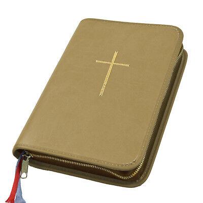 Bücher Großdruck Gotteslob Hülle Gotteslobhülle Leder Hellbraun Braun Beige Kreuz Gold Diversifiziert In Der Verpackung