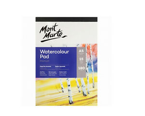 Mont-Marte-A5-Watercolour-Pad-15-Sheets-German-Paper-180gsm-Art-Craft-Aritist