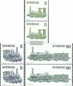 Suède 918do/tu-920do/tu Couples (complète Edition) Oblitéré 1975 Locomotives