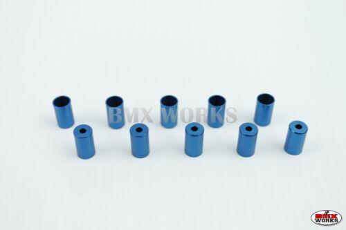 Old School BMX Dia-Compe Brake Cable End Ferrules Blue 5 Pairs Bulk Buy
