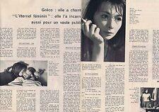 Coupure de presse Clipping 1960 Juliette Gréco  (2 pages)