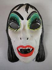 Vintage Halloween Mask 1970s Adult Female Vampire