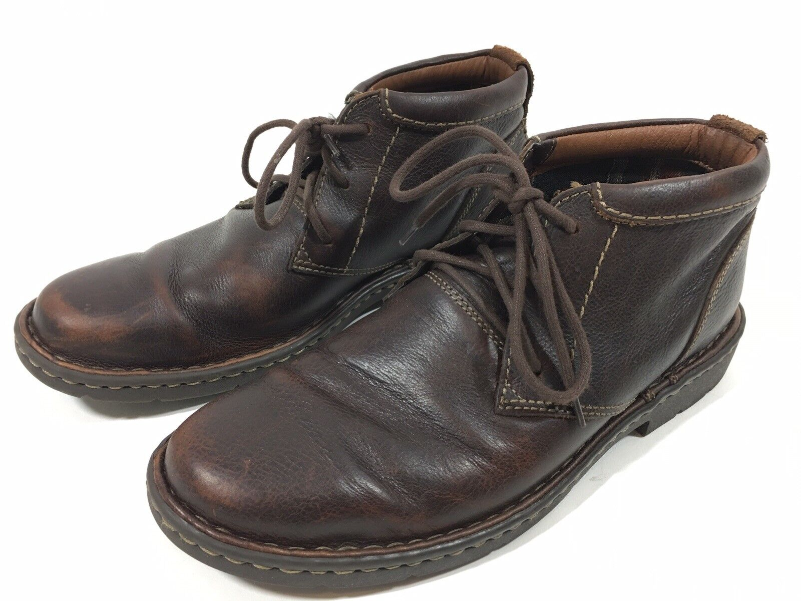 Clarks Stratton Limit Chukka Bottines Marron Hommes sz 8.5 M 02528 1825 avec