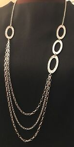 Silpada-32-Oval-Link-Hammered-Sterling-Silver-Necklace-In-Silpada-Box-N1720