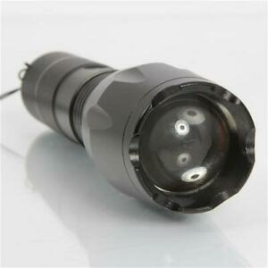 100000LM 10W LED Flashlight Tactical Torch S2 Black Zoomable Outdoor Portable US