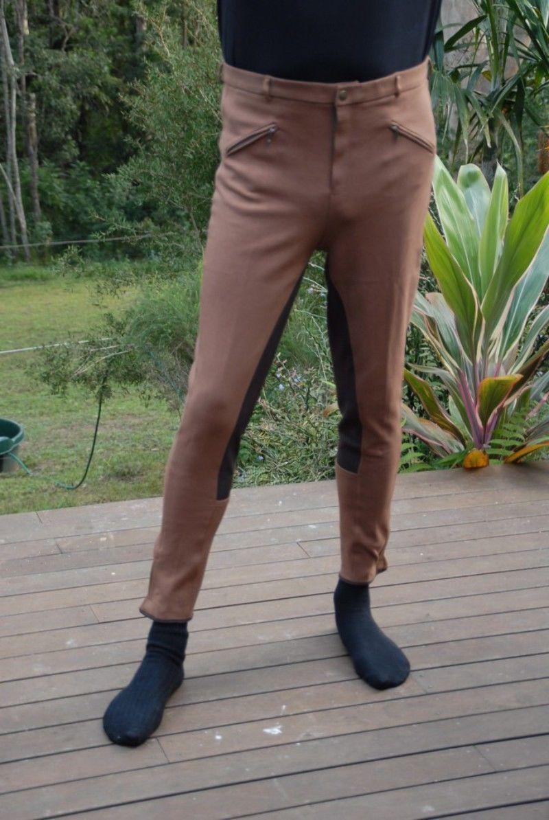 Mens Jodhpurs,Breeches,,Jodphur Riding Pants brown Jods