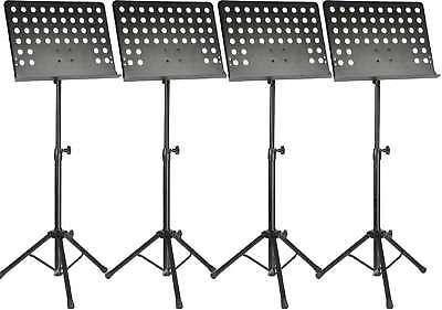 4 X Professioneller Notenständer Notenpult Orchesterpult Notenstativ Adam Hall Freigabepreis Allgemeines Zubehör Sonstige