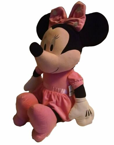 "Authentic Disney Jumbo Minnie Mouse Disney Baby Plush Toy 36"" Tall"
