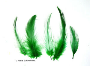 Bag 1//4 ounce Loose KELLY GREEN Turkey Marabou Feathers for Fly Tying