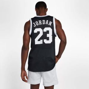 Nike-Men-039-s-Jordan-Jumpman-Mesh-Reversible-Jersey-NEW-AR0026-010-Black-Size-Large