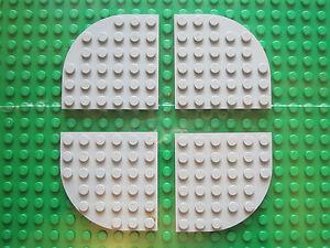 WHITE Baseplate 6 x 6 pin Lego 3 x Flat Square Base Plate