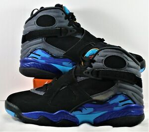 79c6cf130a36b6 Nike Air Jordan Retro 8 VIII Black   Concord   Aqua Shoes Sz 9 NEW ...
