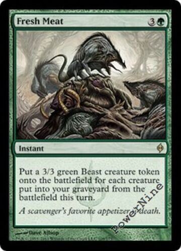 Green New Phyrexia Mtg Magic Rare 4x x4 4 FOIL Fresh Meat