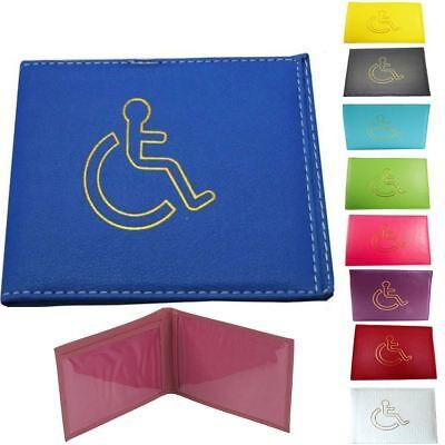 Disabled Blue Badge Holder Hologram Safe Parking Permit Display Cover Wallet Red