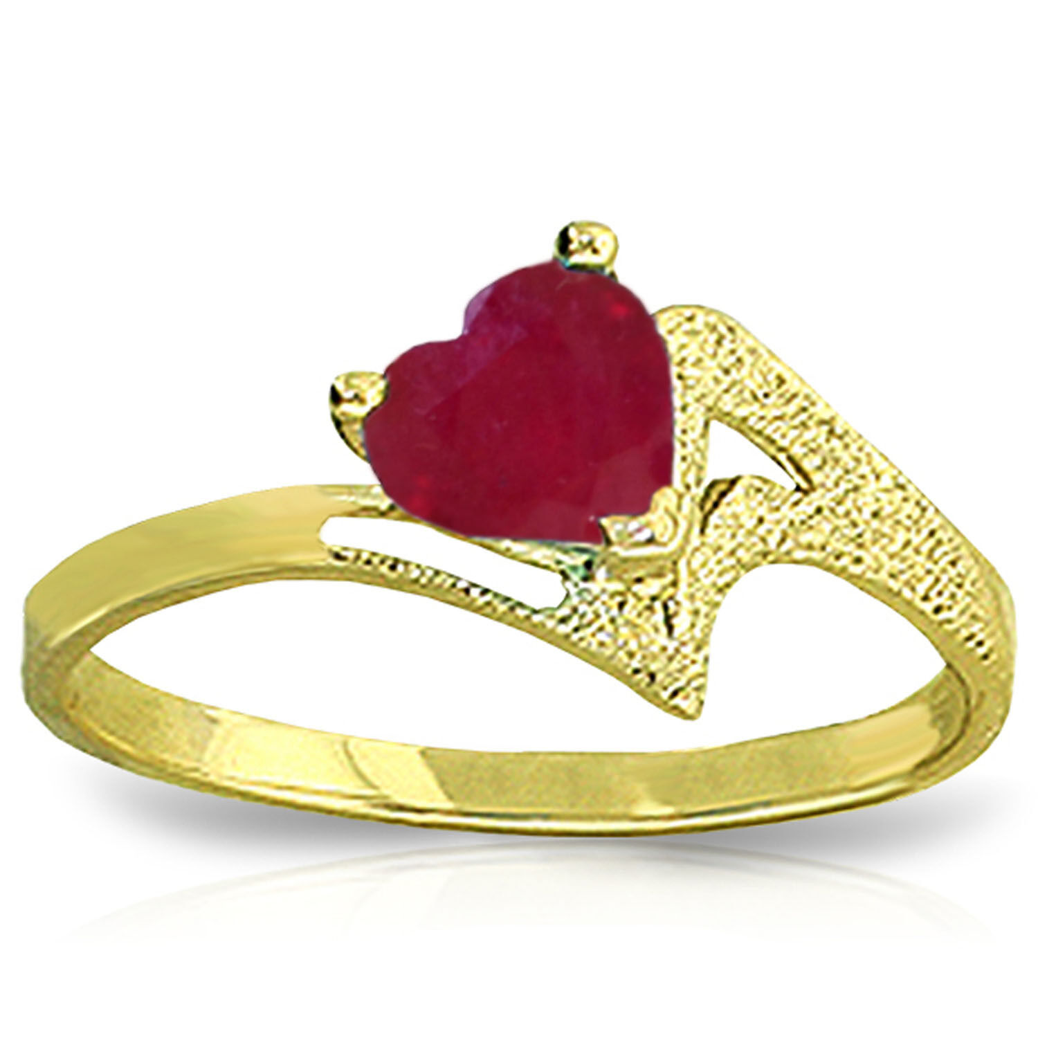 Brand New 1 Carat 14K Solid gold Not A Metaphore Upon Ruby Ring