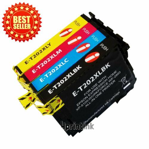 Remanufactured 202 XL T202XL Ink Cartridge For Epson 202XL XP-5100 /& WF-2860