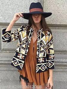 Dettagli su Zara Etnico Boho Ricamato Giacca Taglia S M Nuovo mostra il titolo originale