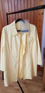 M Corsage Yellow Coat Lemon Per With Special Edition Ladies New Trench Una Size qwRI0w
