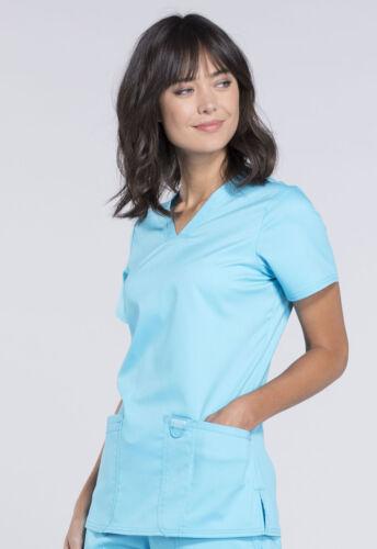 Cherokee Workwear Scrubs V Neck Top WW620 TRQ Turquoise Free Shipping