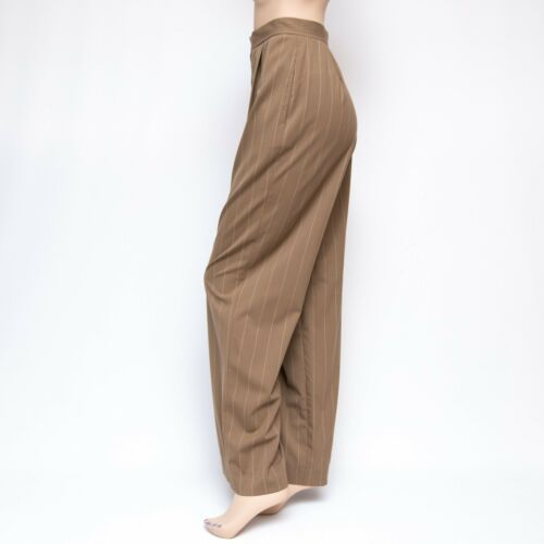 uld Kjole Pinstripe Brown Tan Lauren 1190 Bukser Collection Ralph 8x31 Blend HA6OxY