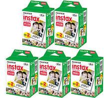 100 SHEETS Fujifilm Instax Instant Film For Mini 8-9 & all Fuji Mini Cameras