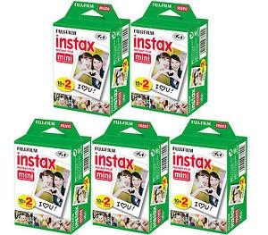 100-SHEETS-Fujifilm-Instax-Instant-Film-For-Mini-8-9-amp-all-Fuji-Mini-Cameras