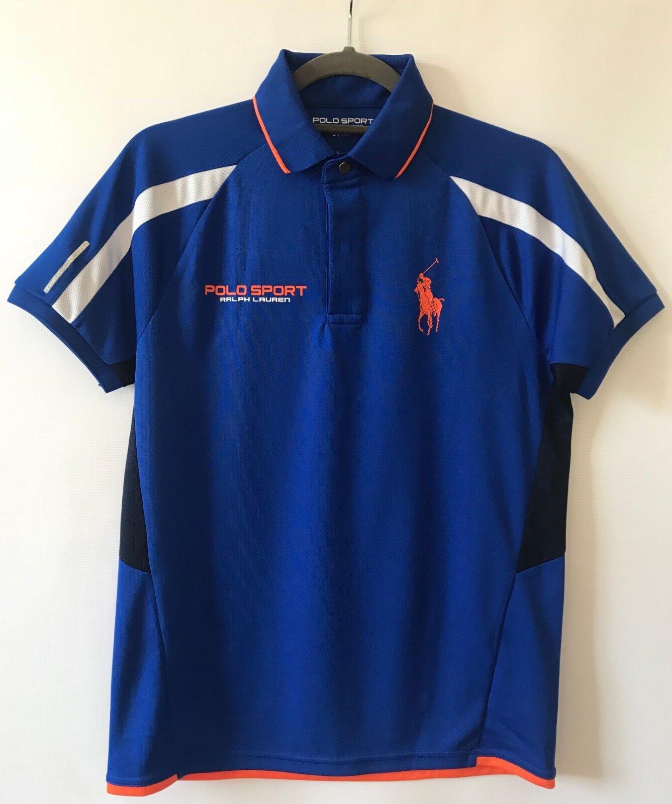POLO RALPH LAUREN SPORT T-shirt, Blended Pique Mesh, Pacific Royal, size SMALL
