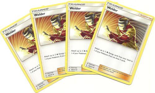 4x WELDER #189//214 UNBROKEN BONDS Pokemon Card HTF Trainer NM//MINT
