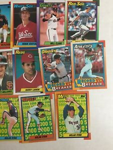 Details About 1990 Topps Baseball Cards Stars Cards Pick Up To 10 Cards To Complete Your Set