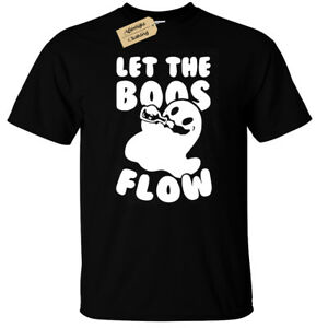 f5d5faab9 Let the boos flow T-Shirt Mens funny ghost halloween joke drinking ...