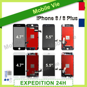 ECRAN VITRE TACTILE + LCD RETINA SUR CHASSIS POUR IPHONE 8/8 PLUS + OUTILS +FILM