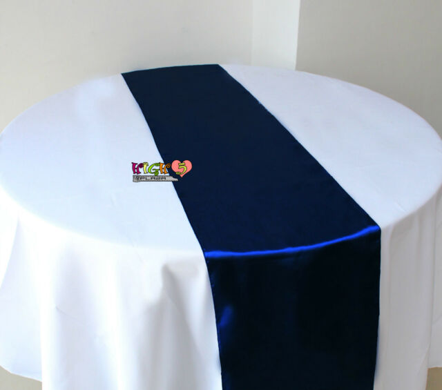 10X Satin Table Runner Sashes Cloth Chair Cover Wedding Event home Decoration