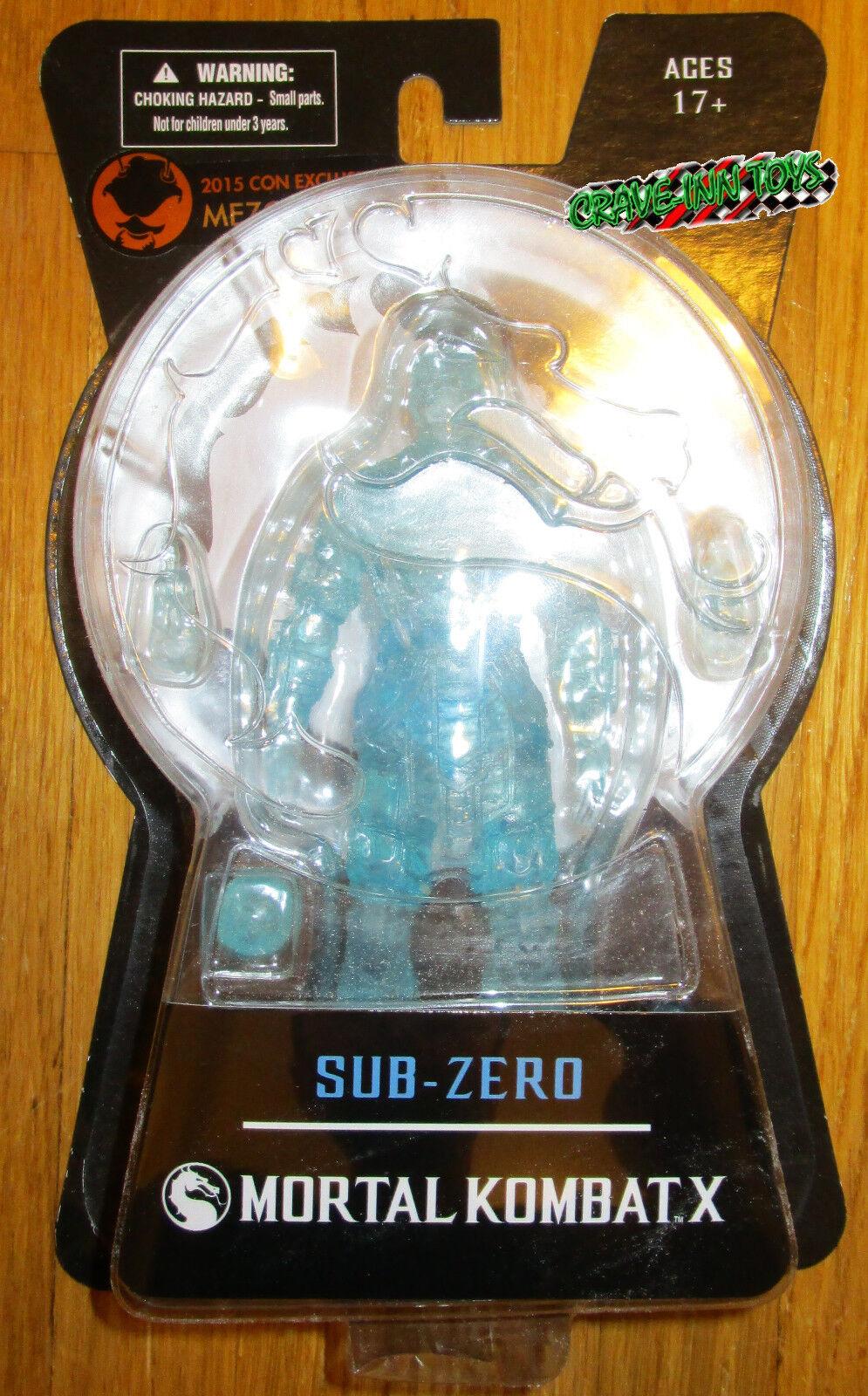 SDCC 2015 MEZCO MORTAL KOMBAT X ICE CLONE SUB ZERO FIGURE EXCLUSIVE LE IN HAND