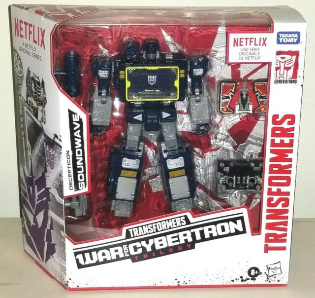 Transformers War For Cybertron Trilogy SOUNDWAVE Figure Ravage Laserbeak Sealed