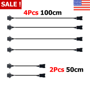 Motorcycle-Extension-Cable-Wire-Cord-Set-Under-LED-Neon-Glow-Light-Strip-6-Pcs