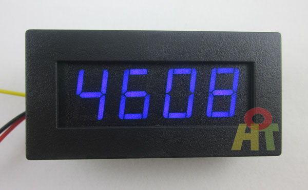 Blue 4 Digital Motor LED Tachometer RPM Speed Measure Gauge Meter Tester 5-9999