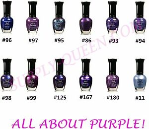 Image Is Loading Kleancolor All About Purple Collection Nail Polish Lot