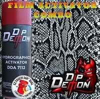 Black & Clear Rattle Snake Skin Hydrographic Film Activator Combo Hydro Dipping