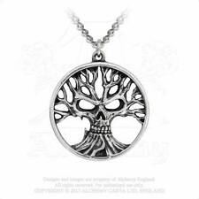 New Alchemy Gothic Pewter Gotik Tree Of Death Pendant Necklace P792