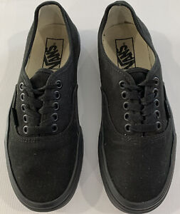 Vans Mens Black Skate Shoes Off The Wall Old Skool Lace Up size 6.5 721565