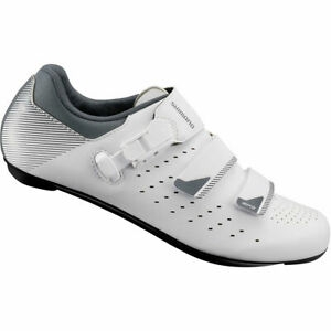 Shimano-RP3-pour-homme-301-de-cyclisme-sur-route-Chaussures-SPD-SL-Large-Blanc-Entierement-neuf-dans